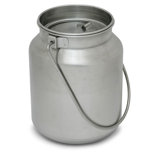 1 Gallon Heavy Duty Stainless Steel Milk Jug w/Tight Fitting Lid