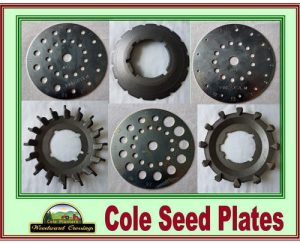 Cole Seed Plates for the Cole 12MX and Cole Planet Junior