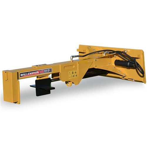 WX410 Wallenstein Skid Loader Mount Logsplitter w/ 4-Way Wedge