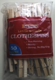 Family Treasures Large Wooden Clothespins w/ Spring