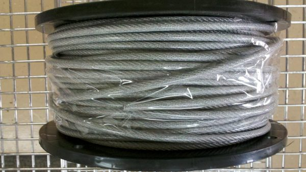 "250 Ft. 1/8"" x 3/16"" Poly Coated Amish Pulley Clothesline Cable"