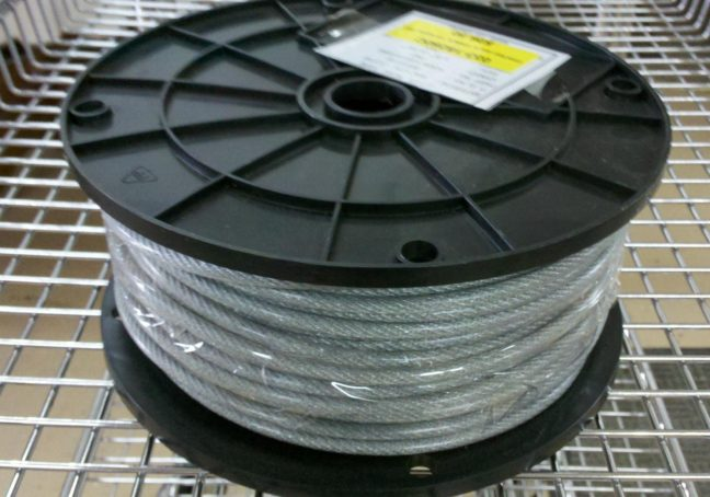 """250 Ft. 1/8"""" x 3/16"""" Poly Coated Amish Pulley Clothesline Cable"""