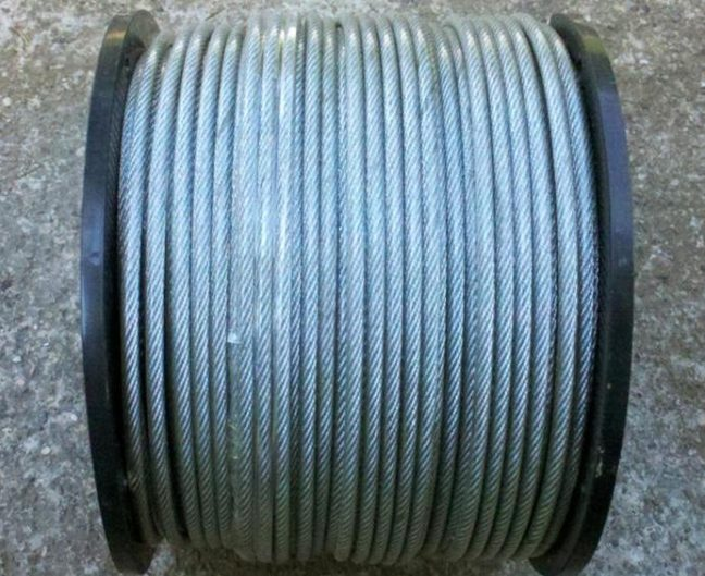 """500 Ft. 1/8"""" x 3/16"""" Coated Clothesline Cable for Wash Lines"""