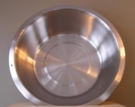 12 Qt. Stainless Steel Flat Bottom Dish Pan
