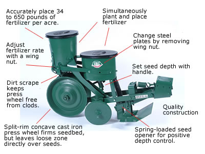 012-0103 12MX Cole Planter w/Fertilizer Hopper, No Hitch