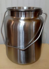 2 Gallon Heavy Duty Seamless Stainless Steel Milk Jug with Tight Fitting Lid