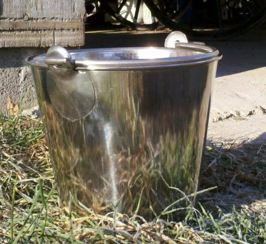 4 Qt. Heavy Duty Stainless Steel Pail with Seamless Construction