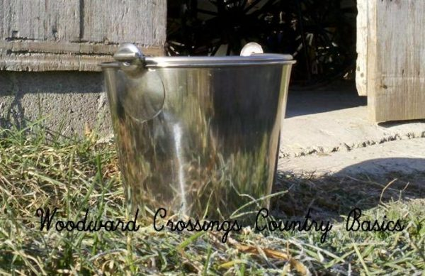 4 Qt. Stainless Steel Pail with Seamless Pail Construction