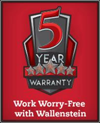 5 Year Warranty on Wallenstein Products