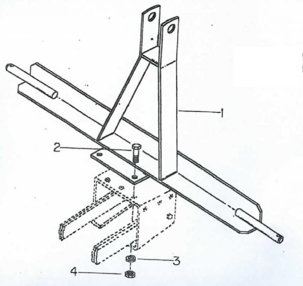 B46-664A Cole CAT I 3 Point Hitch for 12 MX Planter