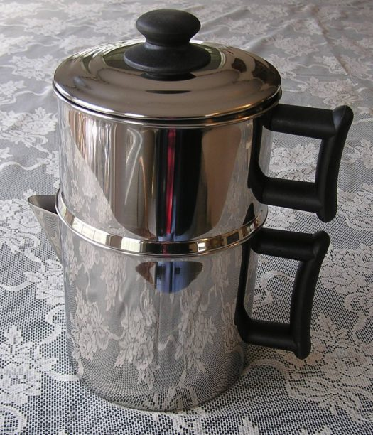 4 pc. 18/10 Surgical Stainless Steel Drip Coffee Maker. Makes 1 - 10 cups. An Amish favorite!