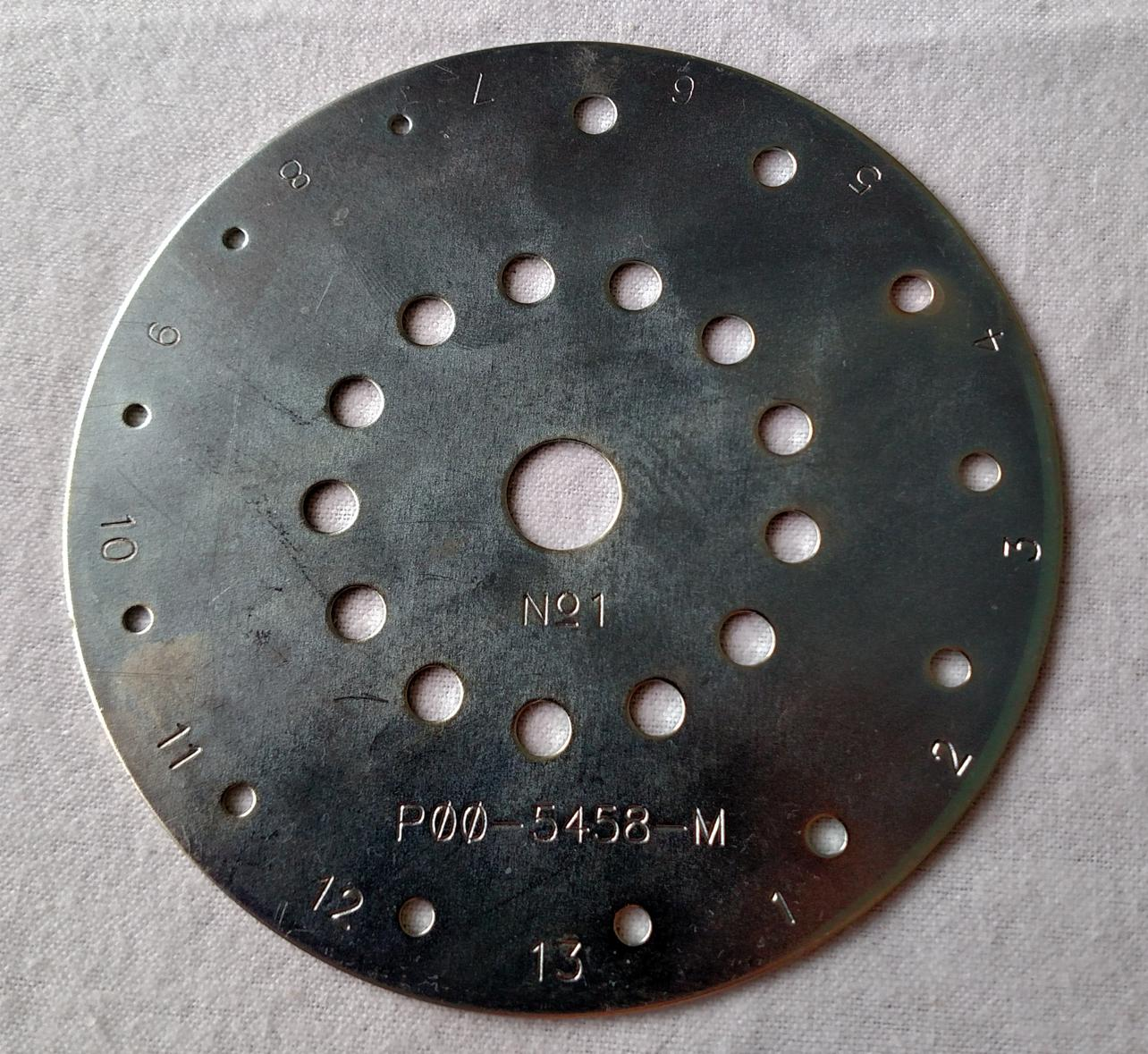 POO-5458 Number 1 Metal Seed Plate for Cole Planet Junior