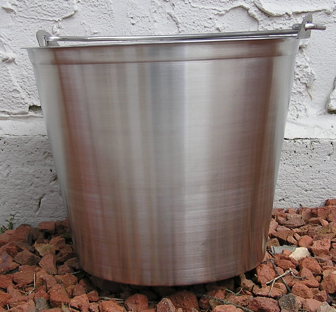 13 Qt. Seamless Stainless Steel Pail, Food Grade, Commercial Use
