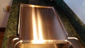 Amish Made Stainless Steel Drainboard