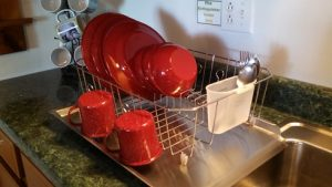 Amish Made Stainless Steel Drainboard - Dish rack and dishes not included