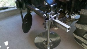 Disc Hiller Setup with Hillers, Clamps, Toolbar and Hitch