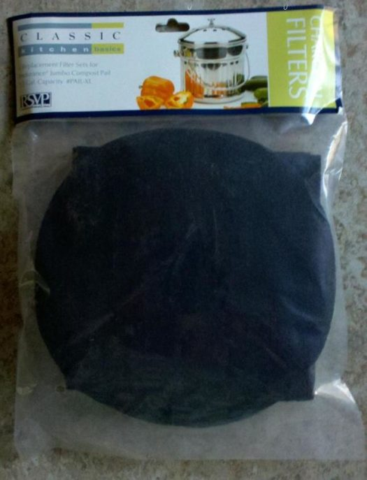 Replacement Charcoal Filters for Part # Pail-XL 1.5 Gallon Compost Pail from RSVP