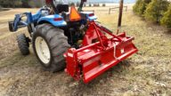 "60"" Grizzly Rototiller~ Gear Driven Tillovator w/Heavy Duty Cast Iron Gear Box"