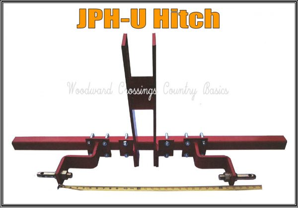 HJPH Hitch for Jang Seeder with 3 Pt. Hitch and Toolbar for Tractor Mounting