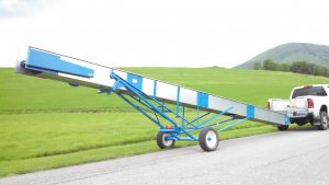 Portable, Versatile Economical Elevator for Ear Corn, Hay Bales