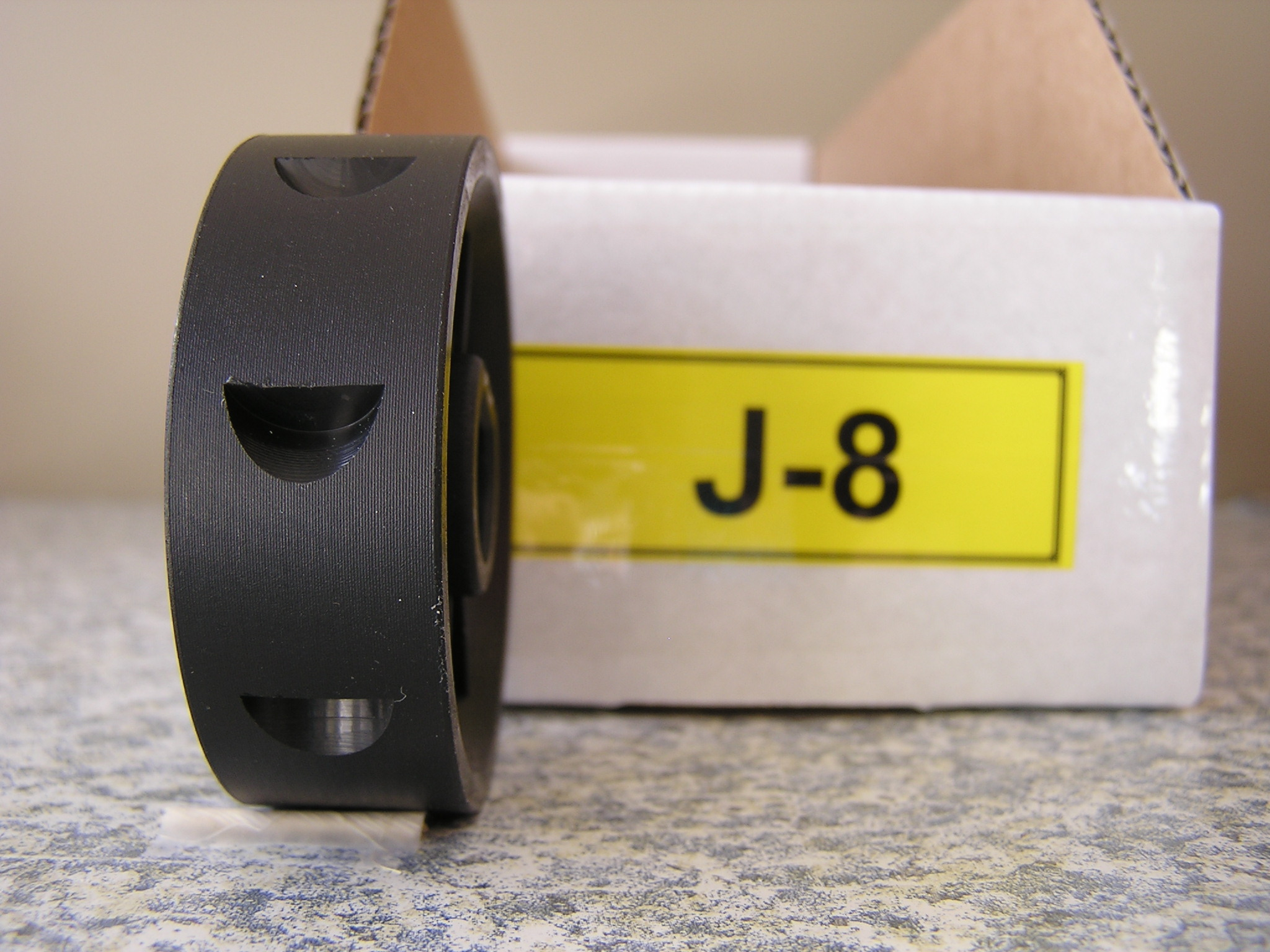 J-8 Roller for Jang Seeder, 8 Thumbnail Shaped Slots, 12 mm at Large End