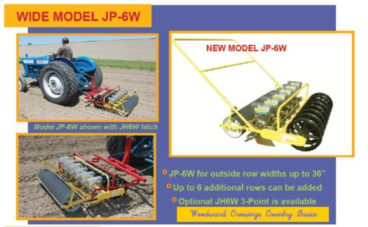 JP-6W - Six Row Wide Jang Seeder