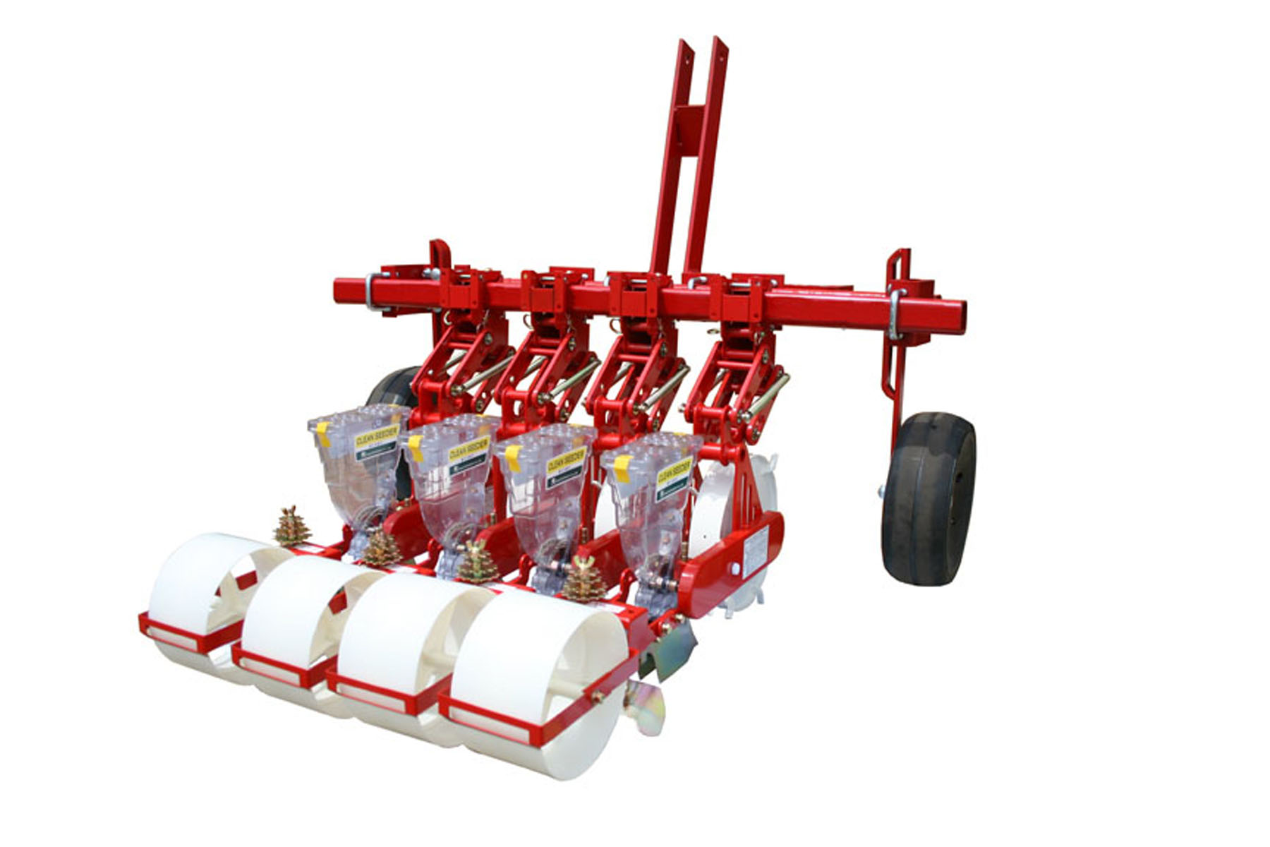JPH-4 Jang Seeder ~3 Pt. Hitch Tractor Mount Seeder w/ Gauge Wheels & Setback Toolbar