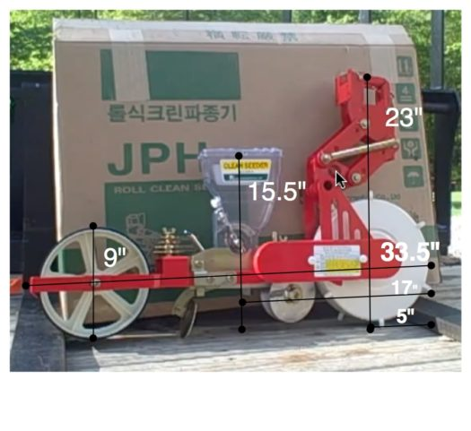 JPH-U Jang Seeder with 3 Pt. Hitch and Toolbar for Tractor Mounting