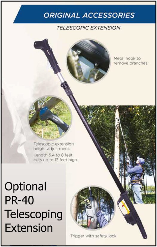 Optional Jacto Battery Operated Pruner Telescopic Extension Brochure