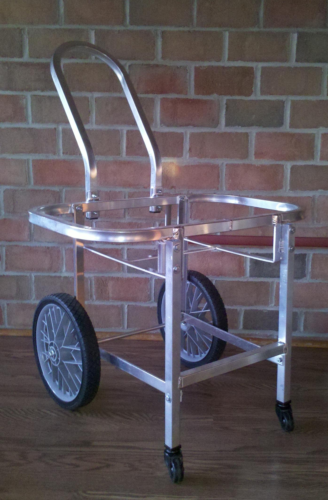 Aluminum Amish Built Laundry Cart  w/ Castors - Moves w/ Ease!