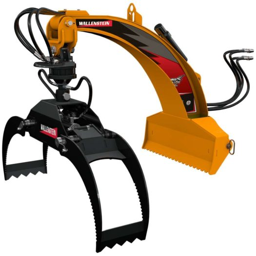 Wallenstein LXG320R Three-Point Hitch Log Grapple with Hydraulic Rotator Grapple