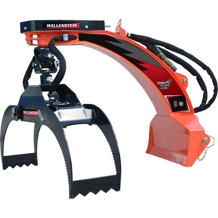Wallenstein LXG320S 3 Pt. Hitch Log Grapple for Compact Tractors