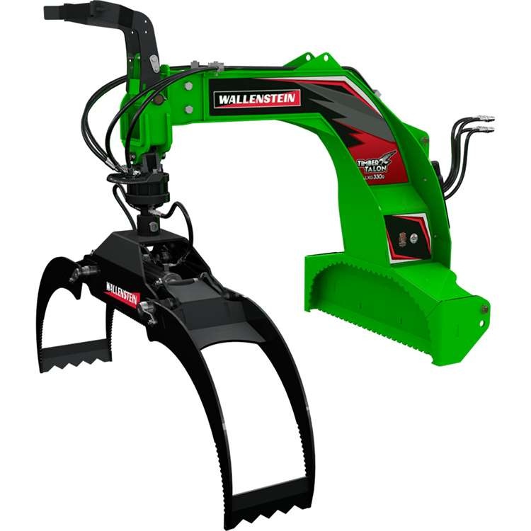 Wallenstein LXG330R Three-Point Hitch Log Grapple W/ 360° Continuous Hydraulic Rotator Grapple