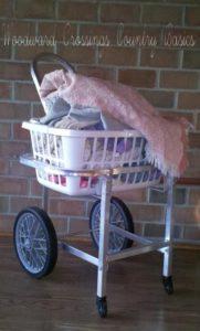 Aluminum Amish Built Laundry Cart