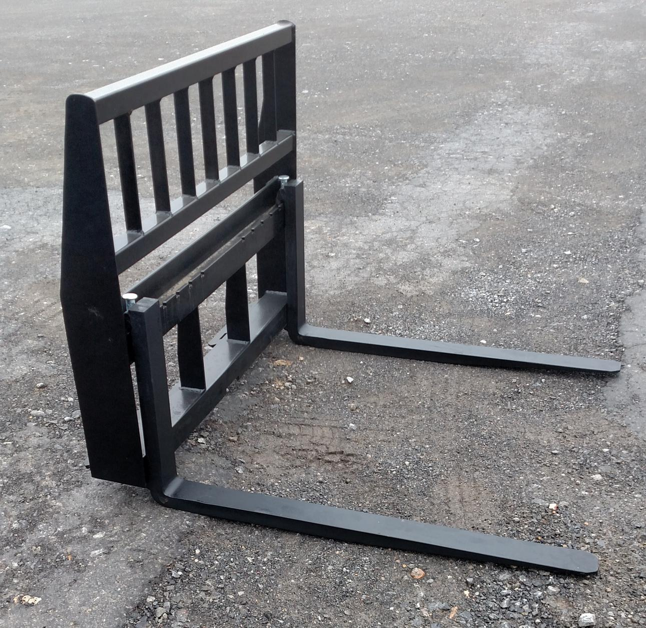 42 Inch 2000# Pallet Forks, Universal Quick Attach Mount