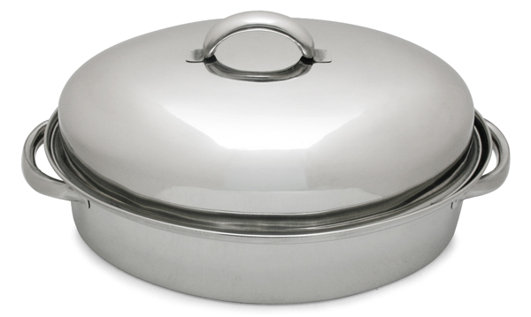 3 Qt. Stainless Steel Roaster with Rack & Lid