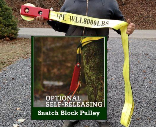 Self Releasing Snatch Block Pulley W/Nylon Strap