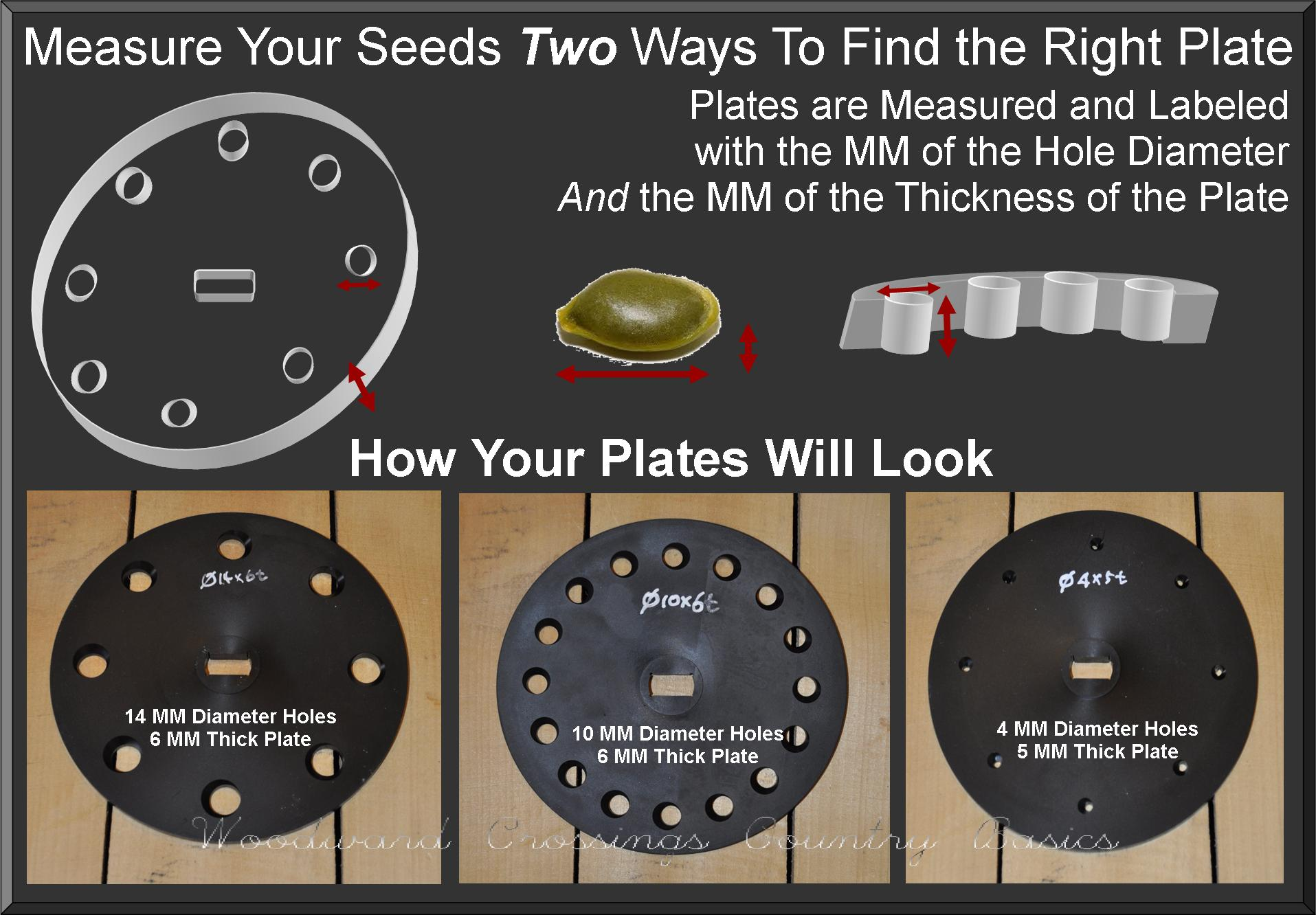 TD-1 Plate Dimensions and Measurements