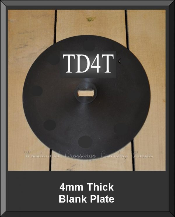TD4T 4MM Thick Blank Plate