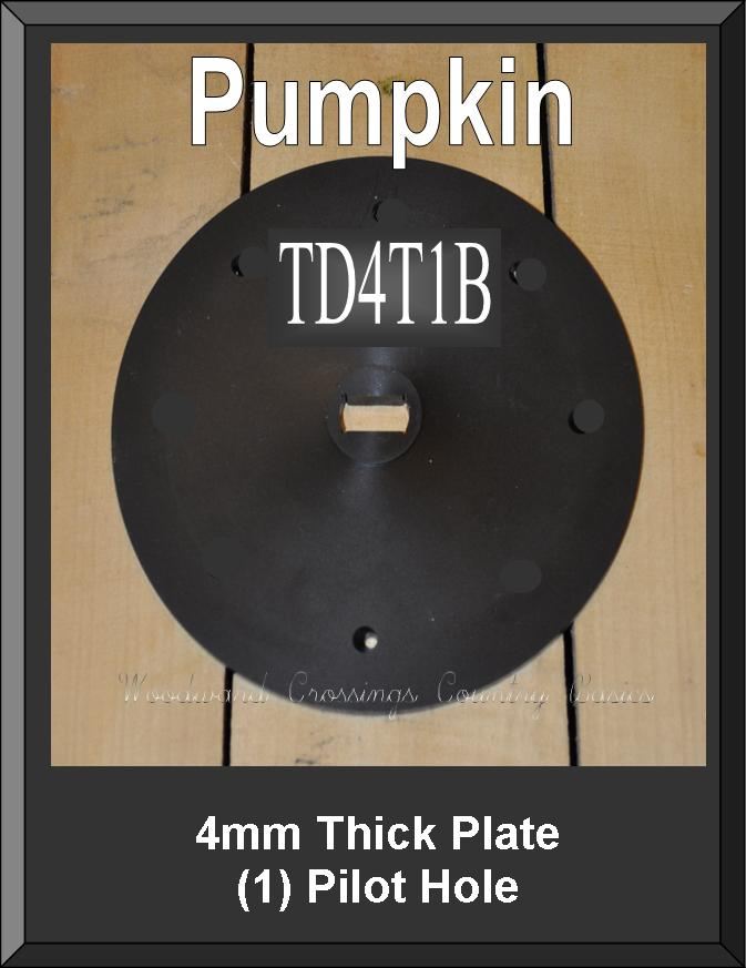 TD4T1B 4MM Thick Plate w/Pilot Hole for TD-1 Seeder for Pumpkins & Squash