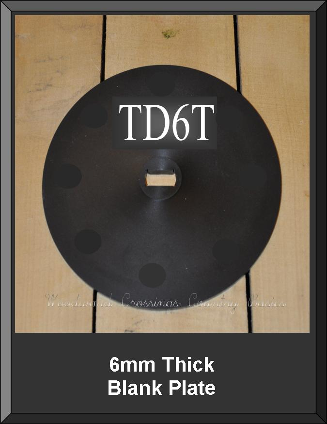 TD6T 6MM Thick Blank Plate for TD-1 Seeder ~ Drill to Size