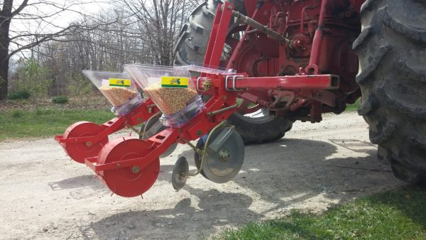TDR-2 Two Row Jang Seeder on a Pt. Hitch and Toolbar