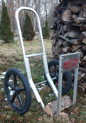 Amish Aluminum Wood Cart w/ Hard Rubber Wheels - Rides Smoothly!