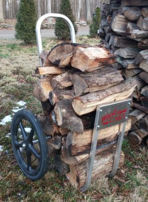Amish Aluminum Wood Cart w/ Hard Rubber Wheels - Rides Smoothly!
