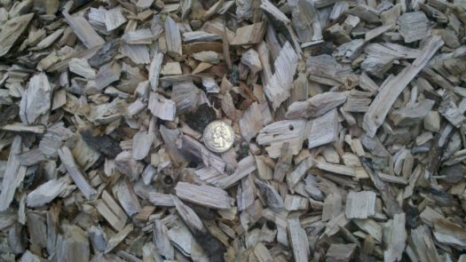 Wood Chips from Wallenstein Wood Chipper