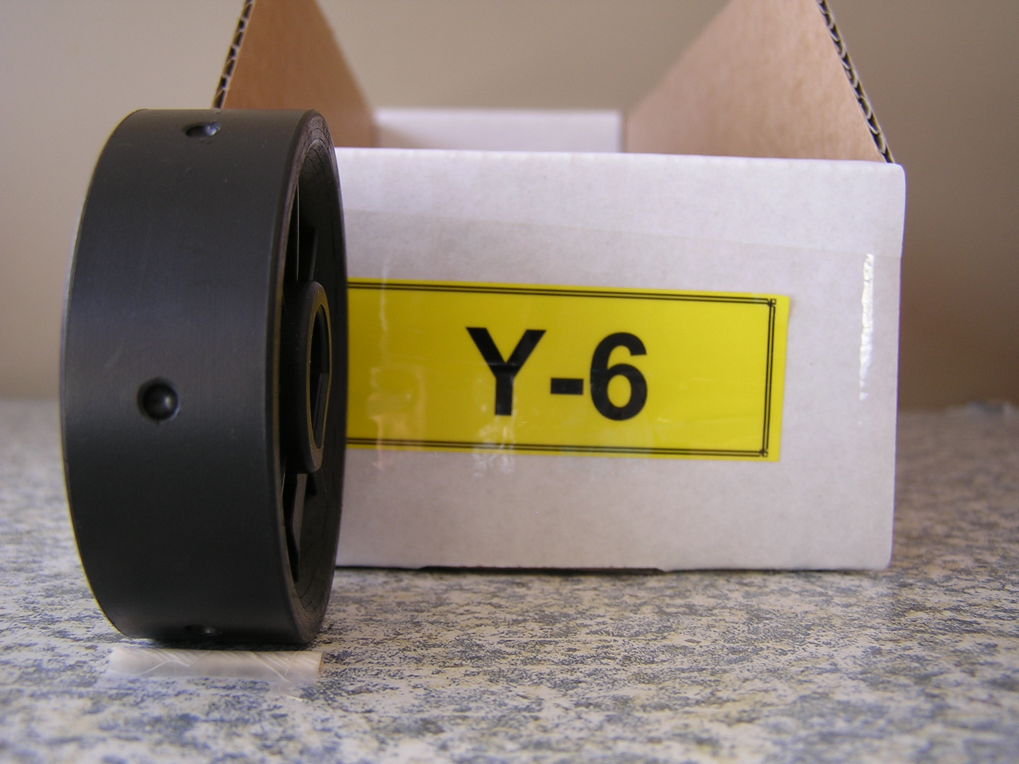Y-6 Roller for Jang Seeder, 3.5 mm Slot, 6 Slots on the Roller