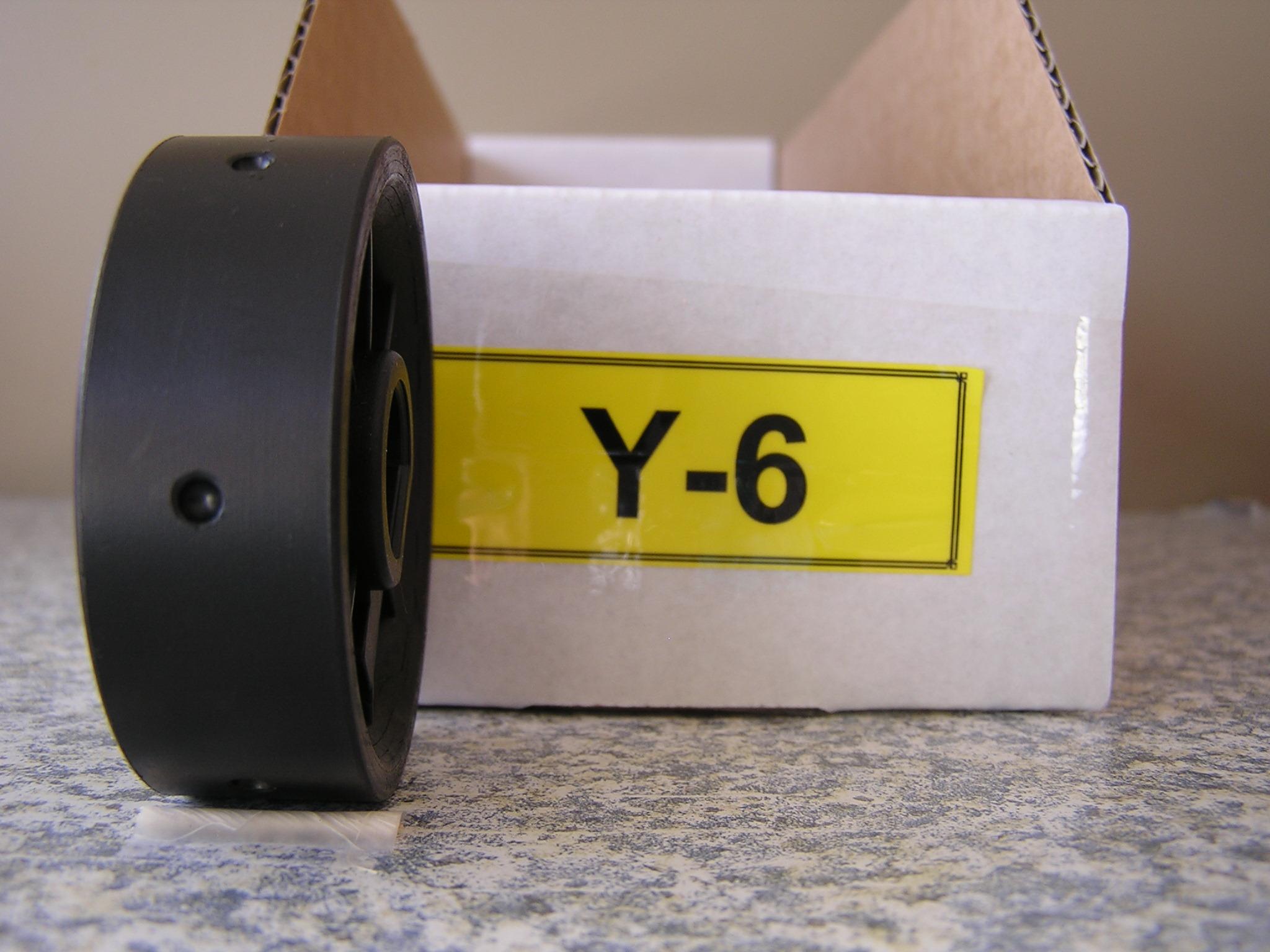 Y-6 Roller for Jang Seeder, 3.5 mm Slot, 6 Slots on the Roller