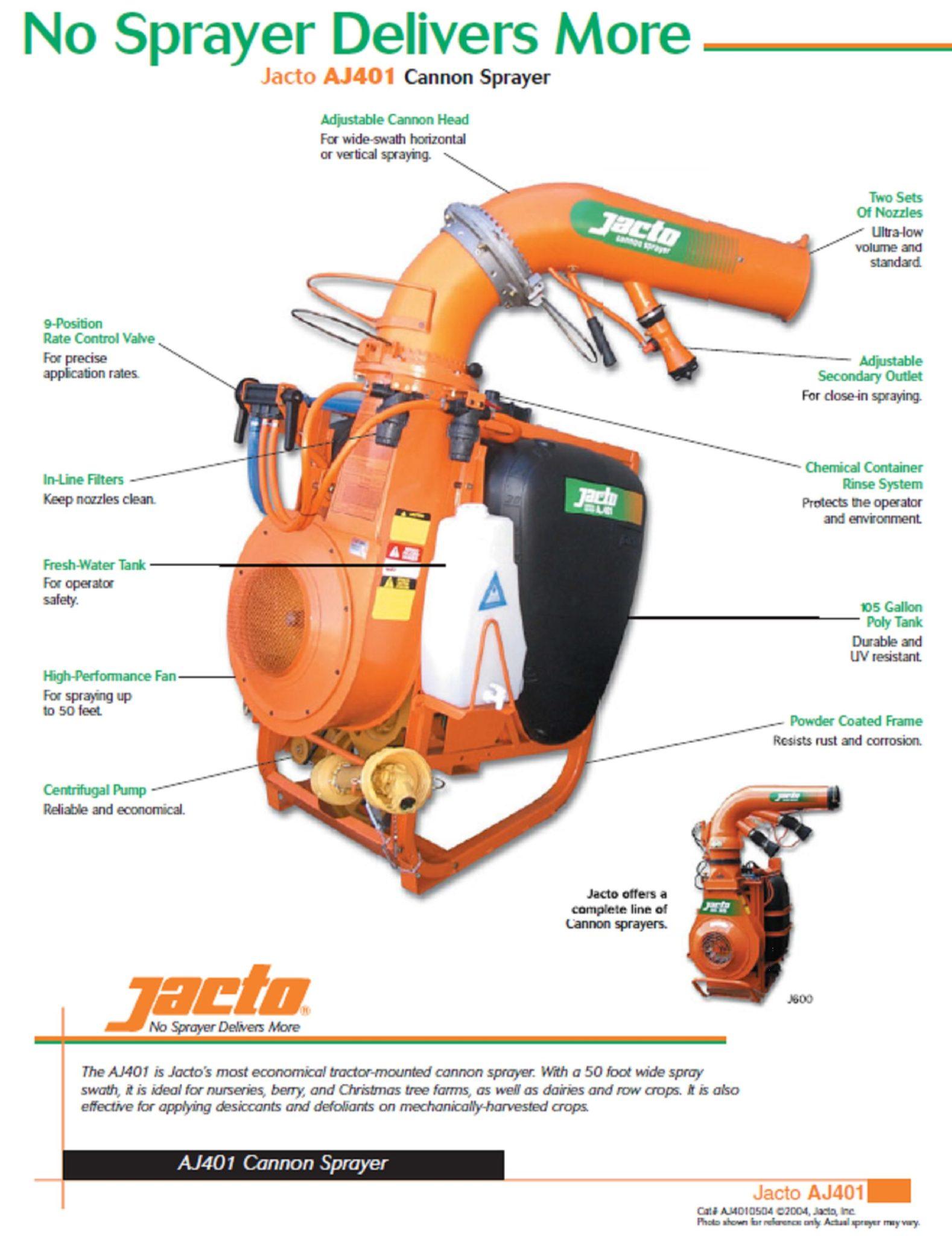 AJ401 Jacto Canon Sprayer
