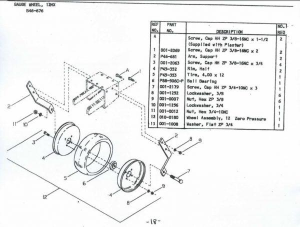 B46-676 Gauge Wheel for Cole 12MX Multiflex