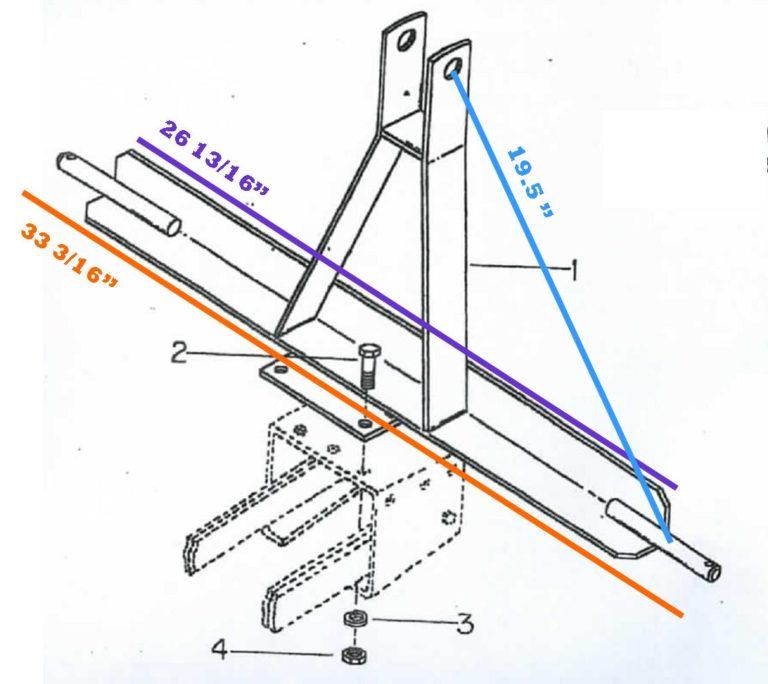 Cole 12MX 3 Pt. Hitch Dimensions